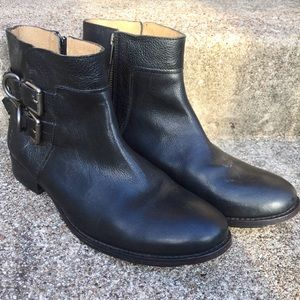 Frye Leather Ankle Zip Boots Booties Sz 10